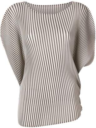 Pleats Please Issey Miyake doleman pleated blouse