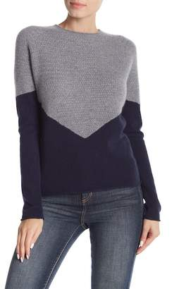 Kier & J Triangle Front Cashmere Pullover Sweater