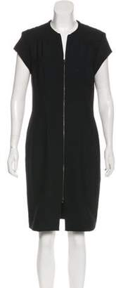 L'Agence Zip-Up Sheath Dress Black Zip-Up Sheath Dress