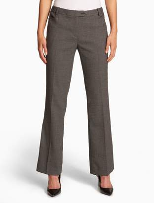 Calvin Klein straight fit black + cream suit pants