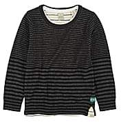 Scotch Shrunk Kids' Two-For-One Striped Sweater Set - Black