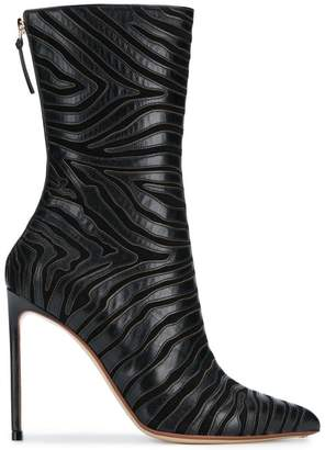 Francesco Russo zebra booties