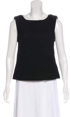 Chanel Sleeveless Textured Top