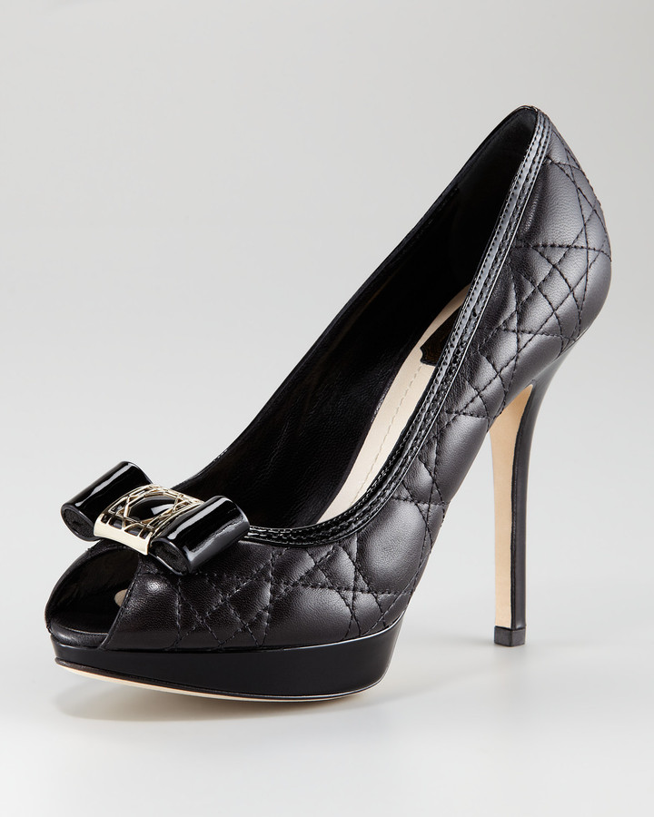 Christian Dior Cannage Quilted Platform Pump