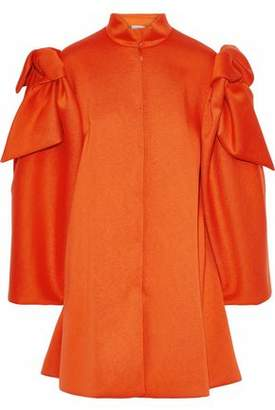 DELPOZO Bow-Embellished Neoprene Coat