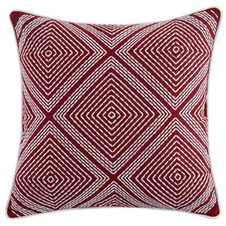 Wrought Studio Toussaint Embroidered Geometric Throw Pillow Wrought Studio Color: Red
