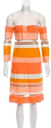 Kaufman Franco KAUFMANFRANCO Sequined Midi Dress
