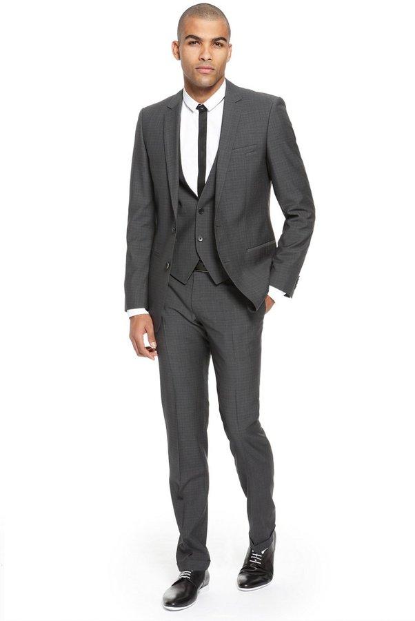 HUGO BOSS 'Anbert/Wigo/Hewis' | Slim Fit, 3-Piece Virgin Wool Suit by HUGO