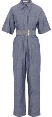 Diane von Furstenberg Belted Cotton-Chambray Jumpsuit