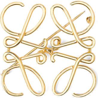 Loewe Anagram brooch, Gold