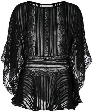 Zimmermann lace kaftan blouse