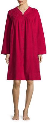 COLLETTE BY MISS ELAINE Collette by Miss Elaine Long Sleeve Brushback Terry Robe