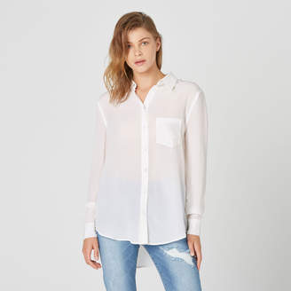 DSTLD Womens Silk Blouse in White