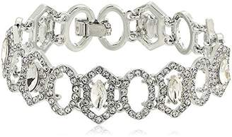 Carolee Crystal Abbey Pave Single Row Flex Strand Bracelet