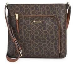 Calvin Klein Hudson Monogram Logo-Print Crossbody Bag