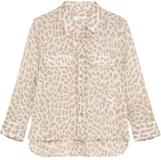 Equipment - Leopard-print Washed-silk Shirt - Leopard print $250 thestylecure.com