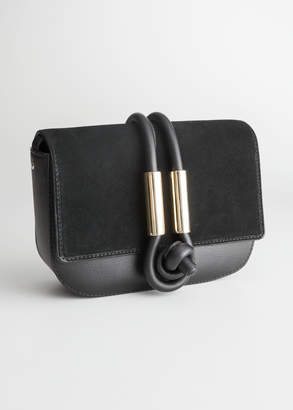 And other stories Leather Knot Crossbody Bag
