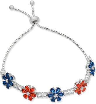 clear Joan Boyce & Colored Crystal Flower Slider Bracelet
