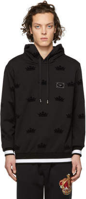 Dolce & Gabbana Black Small Crown Hoodie