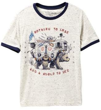 Lucky Brand Short Sleeve Graphic Tee (Big Boys)