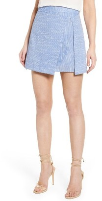 Women's J.o.a. D-Ring Wrap Stripe Skirt $67.50 thestylecure.com