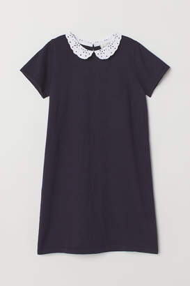 H&M Fine-knit Dress - Blue