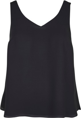 Evans Black Layered Camisole Top