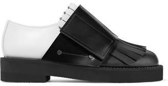 Marni Fringed Two-tone Leather Brogues - Black