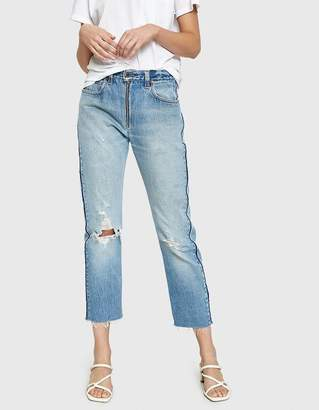 RE/DONE Levi's High Rise Relaxed Zip Crop Jean