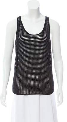Torn By Ronny Kobo Sleeveless Mesh Top