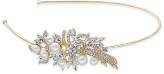 Nina Crystal & Imitation Pearl Flower Side Headband