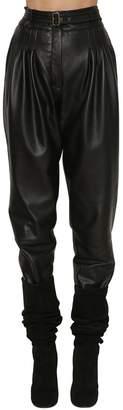 Alberta Ferretti High Waisted Leather Pants