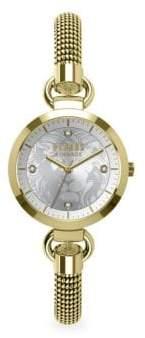 Versace Stainless Steel & Swarovski Crystal Bracelet Watch