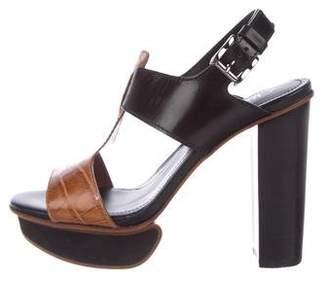 Tod's Embossed Platform Sandals