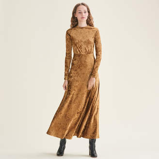 Maje Long velvet dress