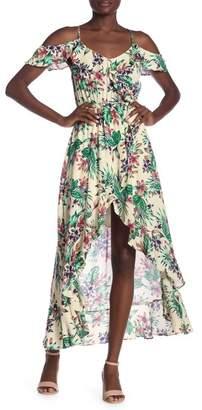 illa illa Hi-Lo Floral Maxi Dress