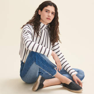 Maje Cropped jumper in run-resistant knit