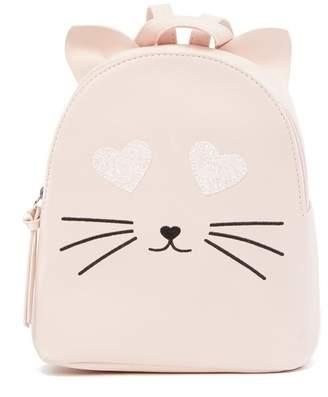 T-Shirt & Jeans Glitter Heart Eyes Cat Small Backpack