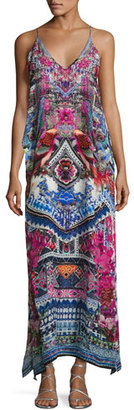 Camilla Embellished Silk V-Neck Layered Maxi Dress, From Kaili with Love $700 thestylecure.com