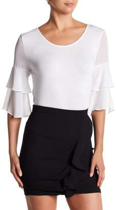 BCBGeneration Tiered Bell Sleeve Top