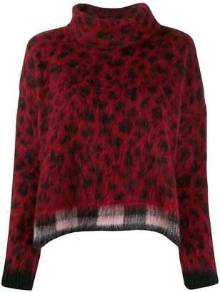 Liu Jo leopard-print jumper