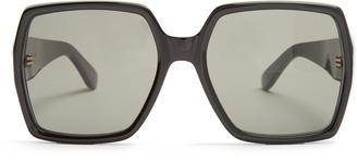 SAINT LAURENT Oversized rectangle-frame acetate sunglasses $275 thestylecure.com