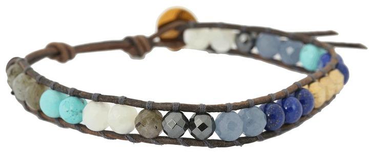 Chan Luu 6 Blue Mix/Naural Grey Bracele Bracele