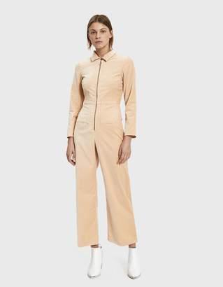 Paloma Wool Paufi Velvet Jumpsuit in Soft Pink