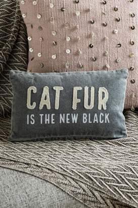 Mud Pie Mud Pie, Llc Cat Fur Is The New Black Pillow