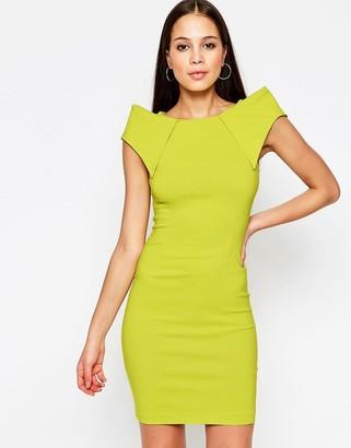 Vesper Rogue Midi Dress with Shoulder Detail $52 thestylecure.com