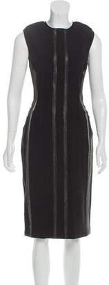 Lanvin Metallic-Accented Midi Dress w/ Tags