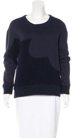 Tsumori ChisatoTsumori Chisato Wool-Paneled Crew Neck Sweater