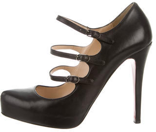 Christian Louboutin  Christian Louboutin Leather Buckle Pumps