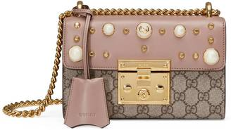 Padlock studded GG Supreme shoulder bag $1,980 thestylecure.com